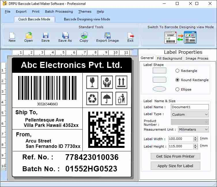 Windows 7 Barcode Labels Tool 7.3.0.1 full